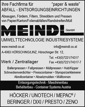 MEINDL | austropack | Anbieterindex | ABFALLENTSORGUNGSANLAGEN (c) MEINDL