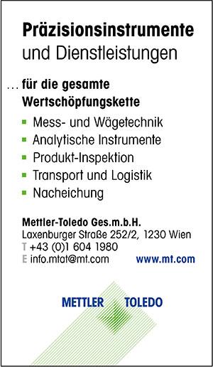 Mettler-Toledo | austropack | Anbieterindex | MESS-UND-WÄGETECHNIK (c) Mettler-Toledo
