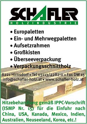 SCHAFLER || austropack | Anbieterindex | PALETTEN (c) Holzindustrie Schafler GmbH & Co KG
