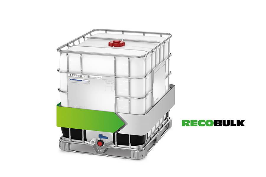 Der Recobulk von Schütz verfügt über die gleichen Standard-Spezifikationen wie der Ecobulk – beide Verpackungen sind daher zu 100 Prozent kompatibel.