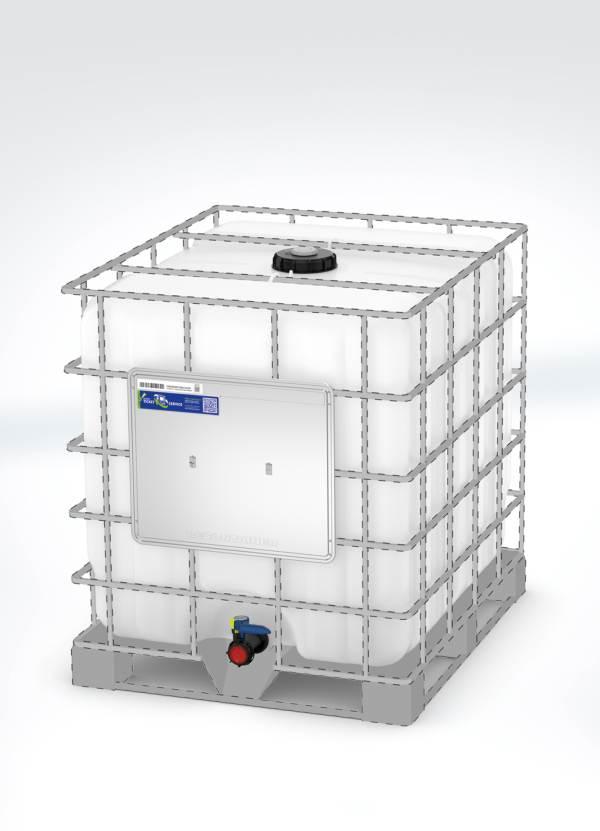 Die von Schütz entwickelte passformoptimierte Innenblase des Recontainers ist technisch auf die Käfige zahlreicher IBC-Modelle anderer Marken abgestimmt. Foto: SCHÜTZ